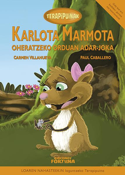 Karlota marmota oheratzeko orduan adar-joka